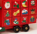 Wooden Truck Advent Calendar With Treat Drawers Traditional Christmas Decoration